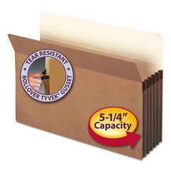 """5 1/4"""" Exp File Pocket, Straight Tab, Legal, Manila/Redrope, 50/Bx"""