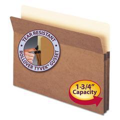 "1 3/4"" Exp Pocket, Straight Tab, Letter, Manila/Redrope, 25/Box"