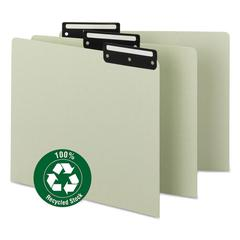 Recycled Tab File Guides, Blank, 1/3 Tab, Pressboard, Letter, 50/Box