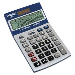 9800 2-Line Easy Check Display Calculator, 12-Digit, LCD