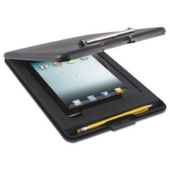 "Saunders SlimMate Storage Clipboard w/ iPad Air Comp, 1/2"" Clip, 9 x 11 3/4 Sheets, Black"