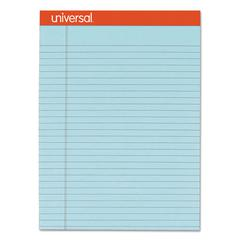 Fashion Colored Perforated Note Pads, 8 1/2 x 11 3/4, Legal, Blue, 50 Sht, 6/PK