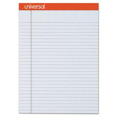 Universal Fashion Colored Perforated Note Pads, 8 1/2 x 11 3/4, Legal, Gray, 50 Sht, 6/PK