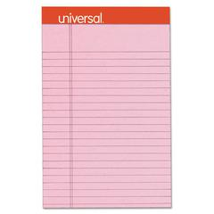 Fashion Colored Perforated Note Pads, 5 x 8, Legal, Pink, 50 Sheets, 6/Pack