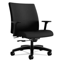 HON Ignition Series Big & Tall Mid-Back Work Chair, Black Fabric Upholstery