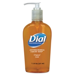 Dial Professional Gold Antimicrobial Hand Soap, Floral Fragrance, 7.5oz Pump Bottle, 12/Carton