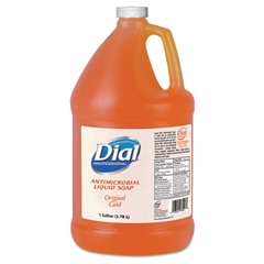 Dial Professional Gold Antimicrobial Liquid Hand Soap, Floral Fragrance, 1gal Bottle, 4/Carton