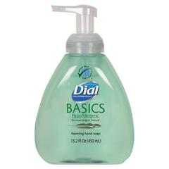 Dial Professional Basics Foaming Hand Soap, Original, Honeysuckle, 15.2 oz Pump Bottle, 4/Carton