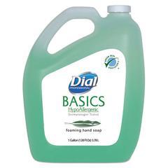 Dial Professional Basics Foaming Hand Soap, Original, Honeysuckle, 1 gal Bottle, 4/Carton
