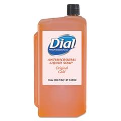 Dial Professional Gold Antimicrobial Liquid Hand Soap, Floral, 1000mL Refill, 8/Carton