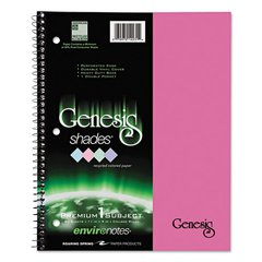 Roaring Spring One Subject Genesis Shades Notebook, 11 x 8 1/2, College Rule, Pink, 34 Sheets