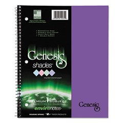 One Subject Genesis Shades Notebook, 11 x 8 1/2, College Rule, Purple, 34 Sheets