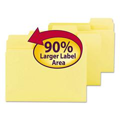 SuperTab Colored File Folders, 1/3 Cut, Letter, Yellow, 100/Box