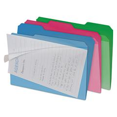 find It Clear View Interior File Folders, 1/3 Cut Top Tab, Letter, Assorted, 6/Pack