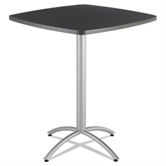 CaféWorks Table, 36w x 36d x 42h, Graphite Granite/Silver