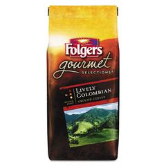 Folgers Gourmet Selections Coffee, Ground, 100% Colombian, 10 oz Bag, 6/Carton