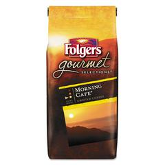 Folgers Gourmet Selections Coffee, Ground, Morning Café, 10 oz Bag, 6/Carton
