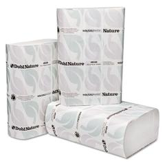 DublNature Multifold Towels, White, 9 1/8 x 9 1/2, 250/Pack, 16 Packs/Carton
