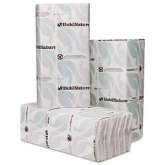 Wausau Paper DublNature C-Fold Towels, 10 1/8 x 13, White, 150/Pack, 16 Packs/Carton