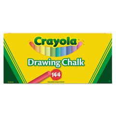 Colored Drawing Chalk, Six Each of 24 Assorted Colors, 144 Sticks/Set