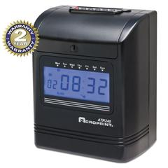 ATR240 Top Loading Time Clock, Black/Red Ink, 8 x 6 x 10, Black