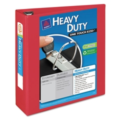 """Avery Heavy-Duty View Binder w/Locking 1-Touch EZD Rings, 3"""" Cap, Red"""