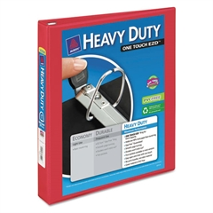 """Avery Heavy-Duty View Binder w/Locking 1-Touch EZD Rings, 1"""" Cap, Red"""