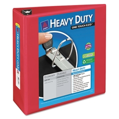 """Avery Heavy-Duty View Binder w/Locking 1-Touch EZD Rings, 4"""" Cap, Red"""