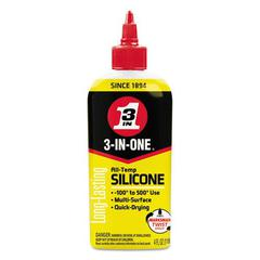 WD-40 3-IN-ONE Professional Silicone Lubricant, 4 oz Bottle