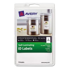 Self-Laminating ID Label, Laser/Inkjet, 4 x 6 Sheet, 2 1/4 x 3 1/4, White, 10/PK