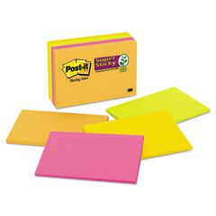 Post-it Meeting Notes in Rio de Janeiro Colors, 6 x 4, 45-Sheet, 8/Pack