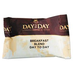 Day to Day Coffee 100% Pure Coffee, Breakfast Blend, 1.5 oz Pack, 42 Packs/Carton