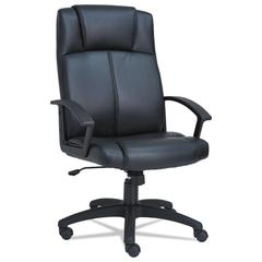 CL Series High-Back Leather Chair, Black