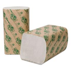 EcoSoft Singlefold Towels, 9 x 10, White, 250/Pack, 16 Packs/Carton