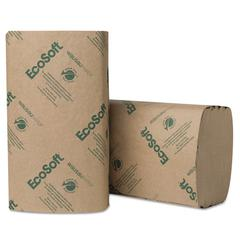 EcoSoft Singlefold Towels, Natural, 250 Towels/Pack, 16 Packs/Carton