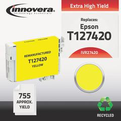 Remanufactured T127420 (127) Ink, Yellow