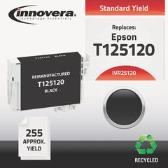 Innovera Remanufactured T125120 (125) Ink, Black