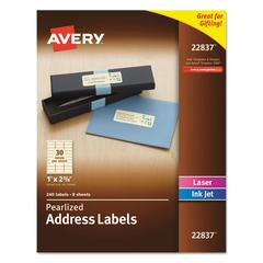 Rectangle Labels, 1 x 2 5/8, Pearl Ivory, 240/Pack