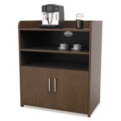 Trento Line Storage/Breakroom Cabinet, 30w x 18 7/8d x 36 1/8h, Mocha