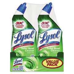 LYSOL Brand Disinfectant Toilet Bowl Cleaner with Bleach, Liquid, 24oz Twin Pack