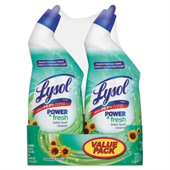 Power & Fresh Toilet Bowl Cleaner Cling Gel, Country Scent,24oz 2 Band Pk,6Pk/Ct