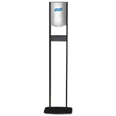 PURELL Elite LTX Floor Stand Dispenser Station, For 1200mL Refills, Chrome/Black