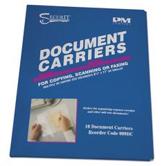 "PM Company Document Carrier for Copying, Scanning, Faxing, 8 1/2"" x 11"", Clear, 10/Pack"