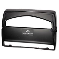 Safe-T-Gard Toilet Seat Cover Dispenser,1/2Fold, 16 3/8 x 2 1/2 x 11 3/4, Black