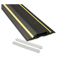 Medium-Duty Floor Cable Cover, 3 1/4 x 1/2 x 6 ft, Black with Yellow Stripe