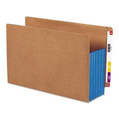 """5 1/4"""" Exp File Pockets, Straight Tab, Legal, Blue, 10/Box"""
