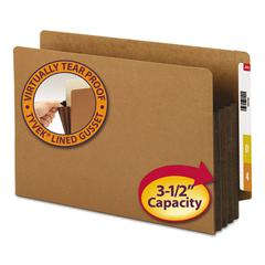 "Smead 3 1/2"" Exp File Pockets, Straight Tab, Legal, Brown, 10/Box"