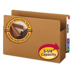 "TUFF Pocket 5"" Exp File Pockets, Straight, Legal, Redrope, 10/Box"