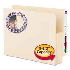 """3 1/2"""" Exp End Tab File Pocket, Straight Tab, Letter, Manila, 25/Bx"""