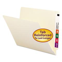 Smead Straight Cut End Tab Folders, 9 1/2 Inch Front, Letter, Manila, 100/Box